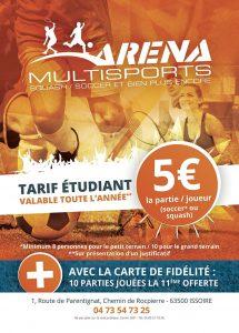 Tarifs Etudiant Arena Multisports